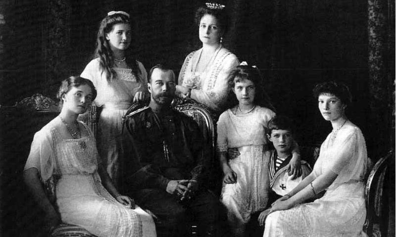 Czar Nicholas II with family