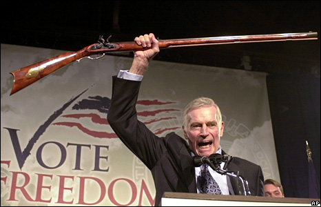 Charlton Heston, ''From my cold, dead hands!''
