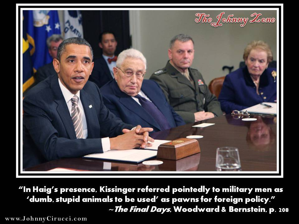 Kissinger loves soldiers