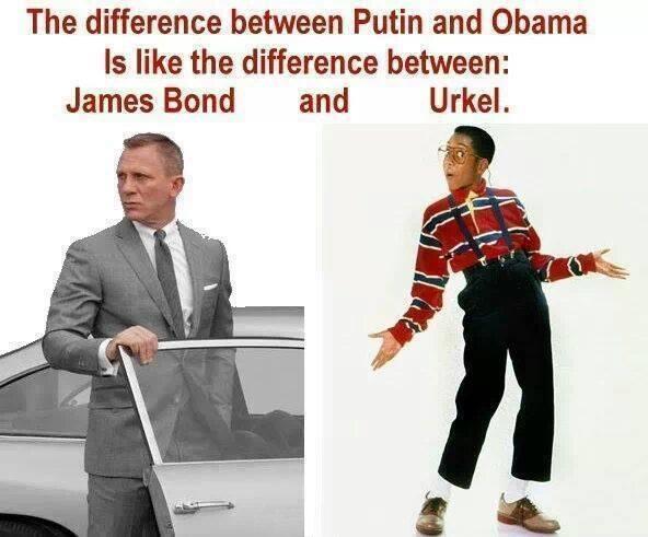 Putin Bond Obama Urkle