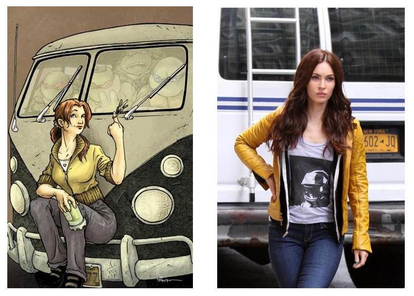TMNT April O'Neil comparison
