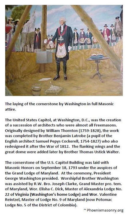 The laying of the cornerstone by Washington in full Masonic attire