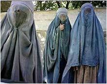 """Beneath these dehumanizing sacks are Afghan women who, before being liberated by the United States, would be murdered on sight if they were ever caught without their """"burqahs."""""""