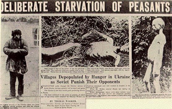 deliberate soviet starvation of ukrainian peasants