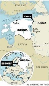 map of narva estonia