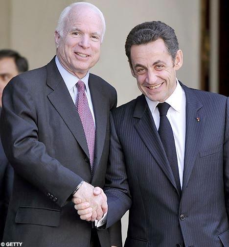 Republican candidate John McCain met French President Nicholas Sarkozy this week.