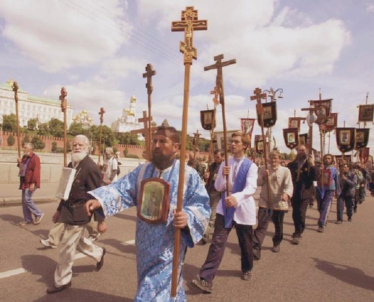 russian orthodox procession