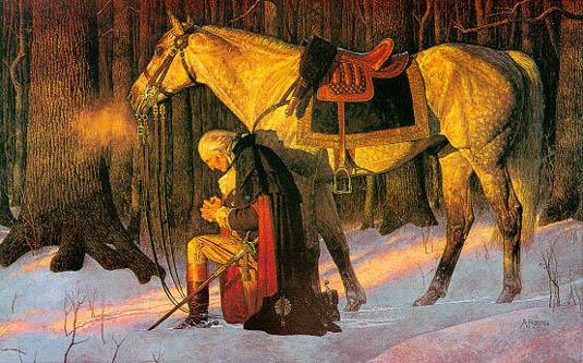 washington praying at valley forge