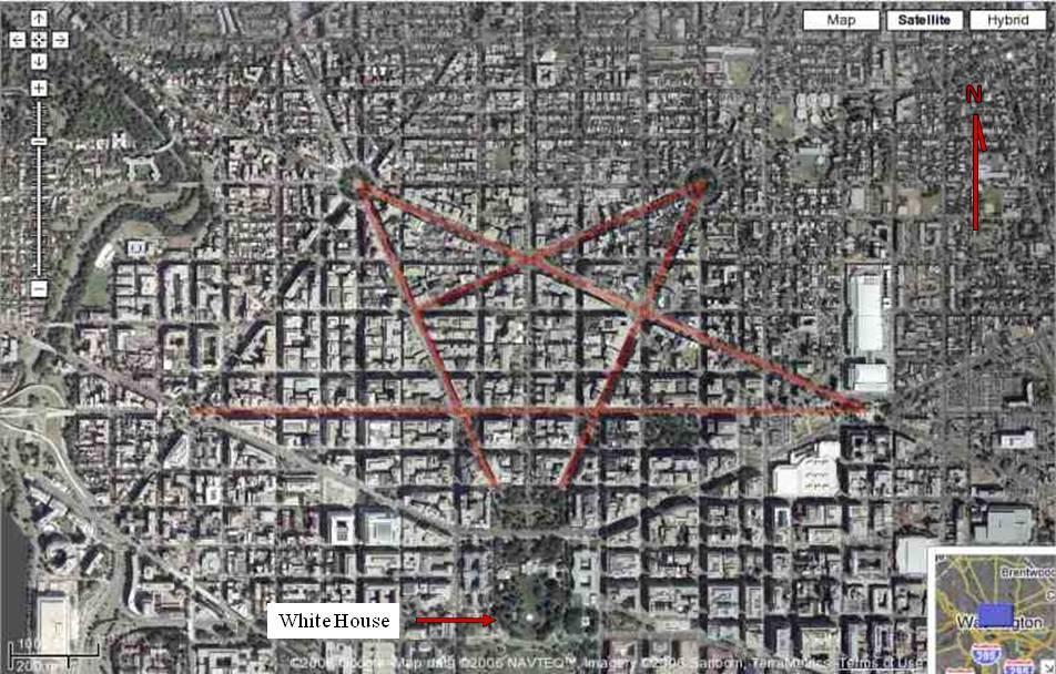 washington's inverted pentagram
