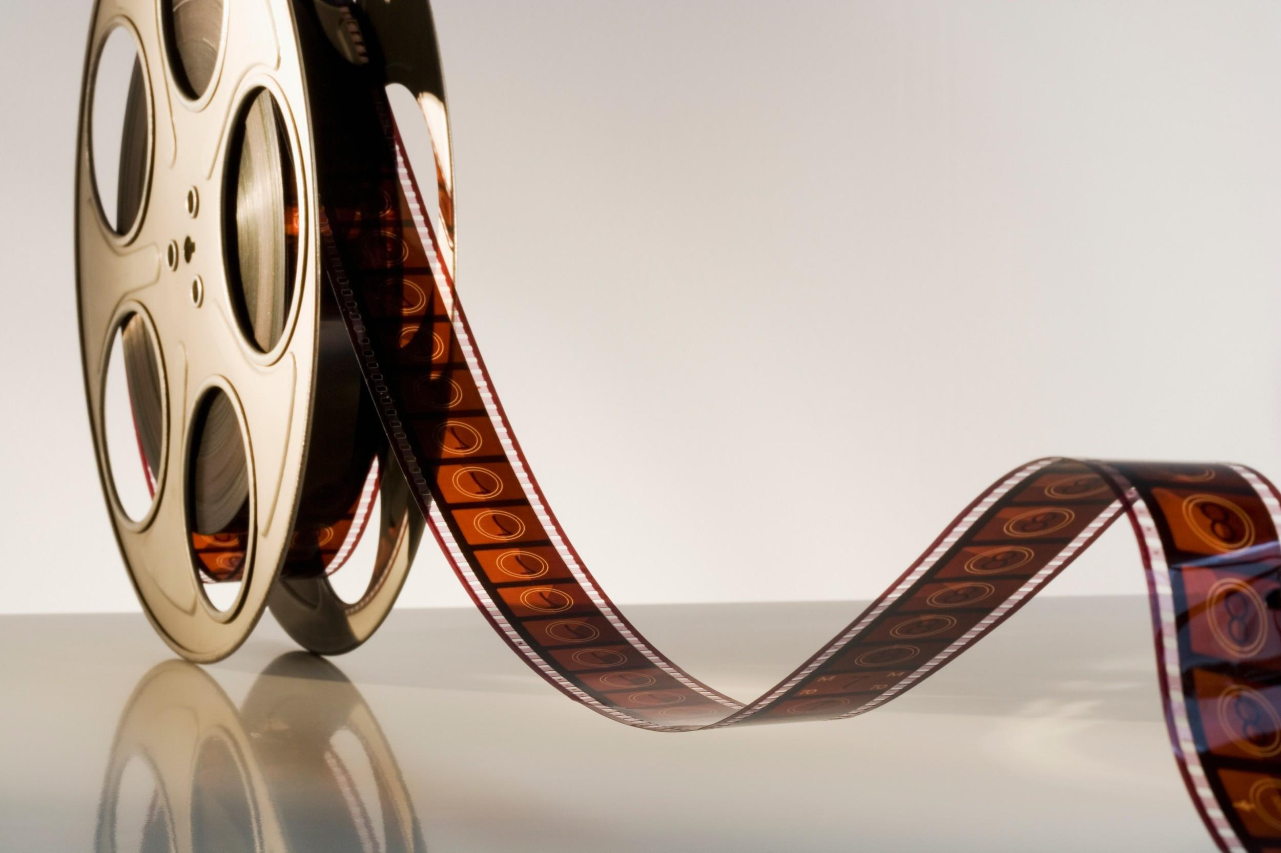 movie reel with film countdown