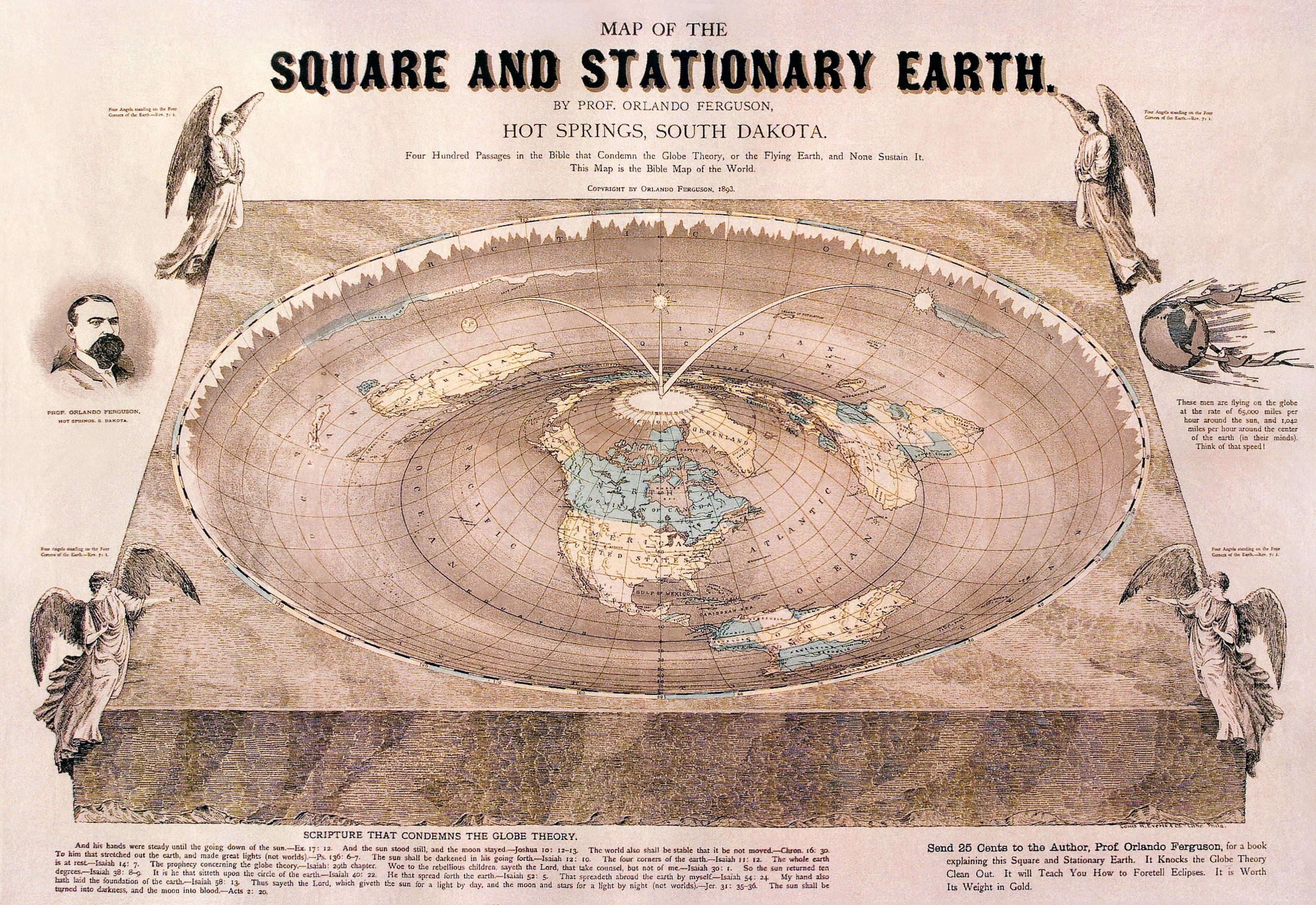 Orlando Ferguson flat earth map