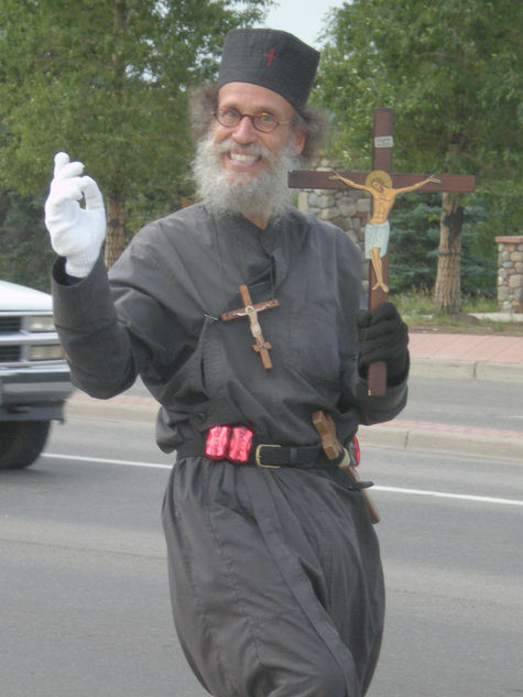 "Either this man really is a clown and a fool or his white and black gloves are telling you that he's been indoctrinated in the Jesuitical, Freemasonic Gnosticism of ""good is evil and evil is good""."