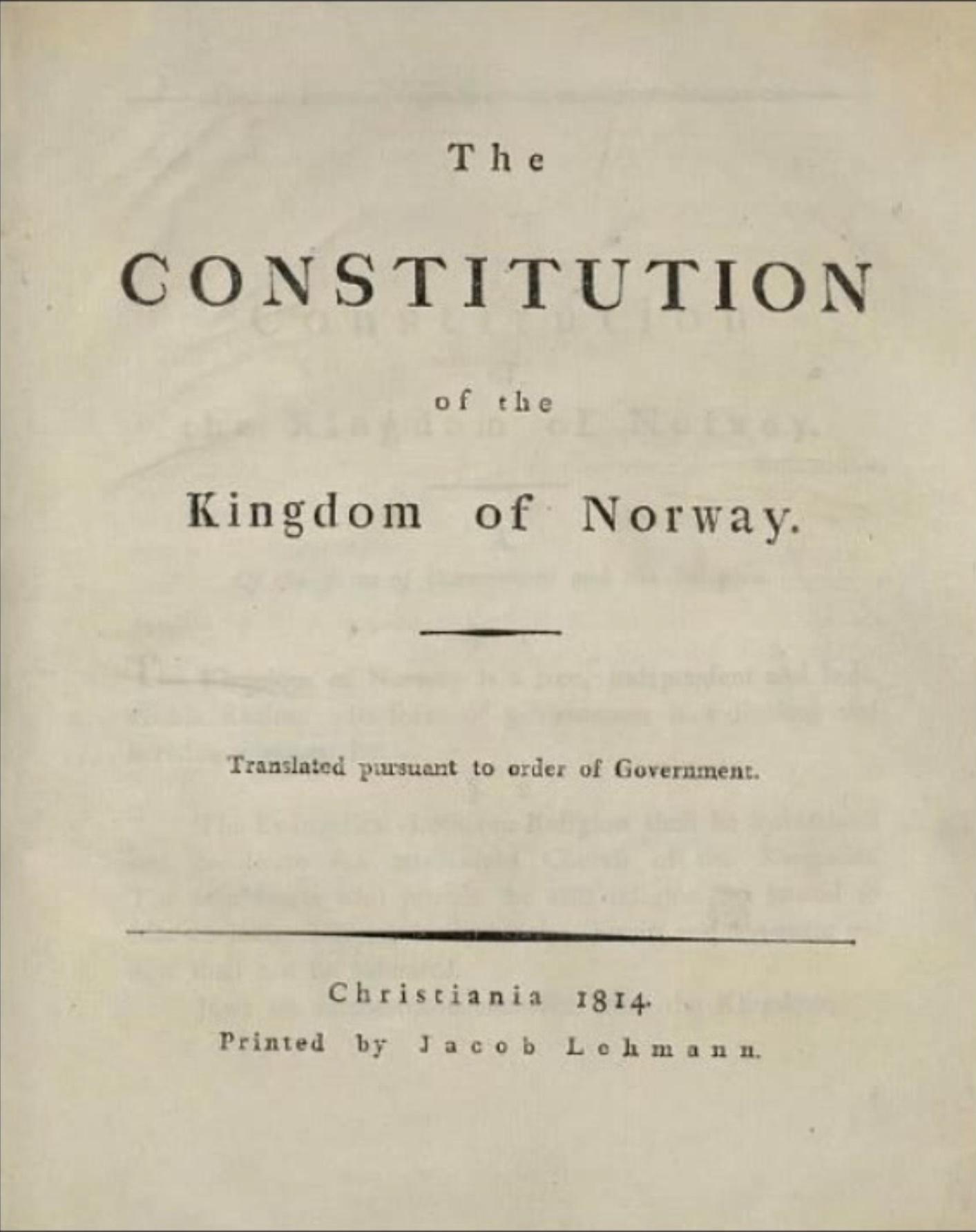Norway Constitution p. 1