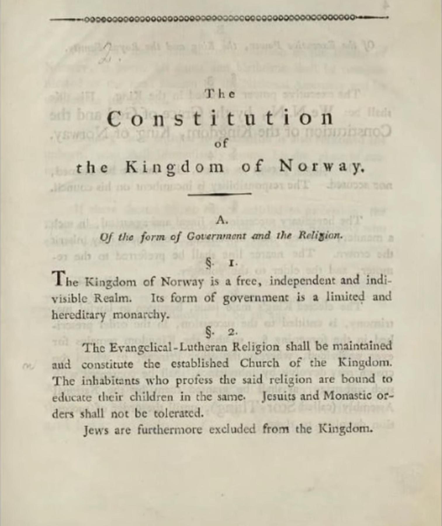 Norway Constitution p. 2