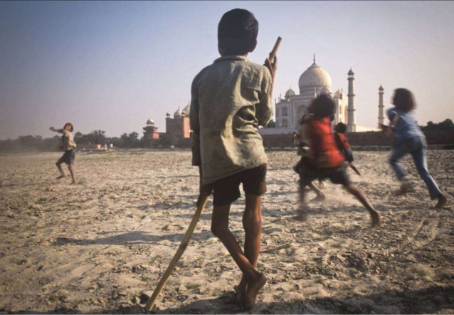 child in india with polio