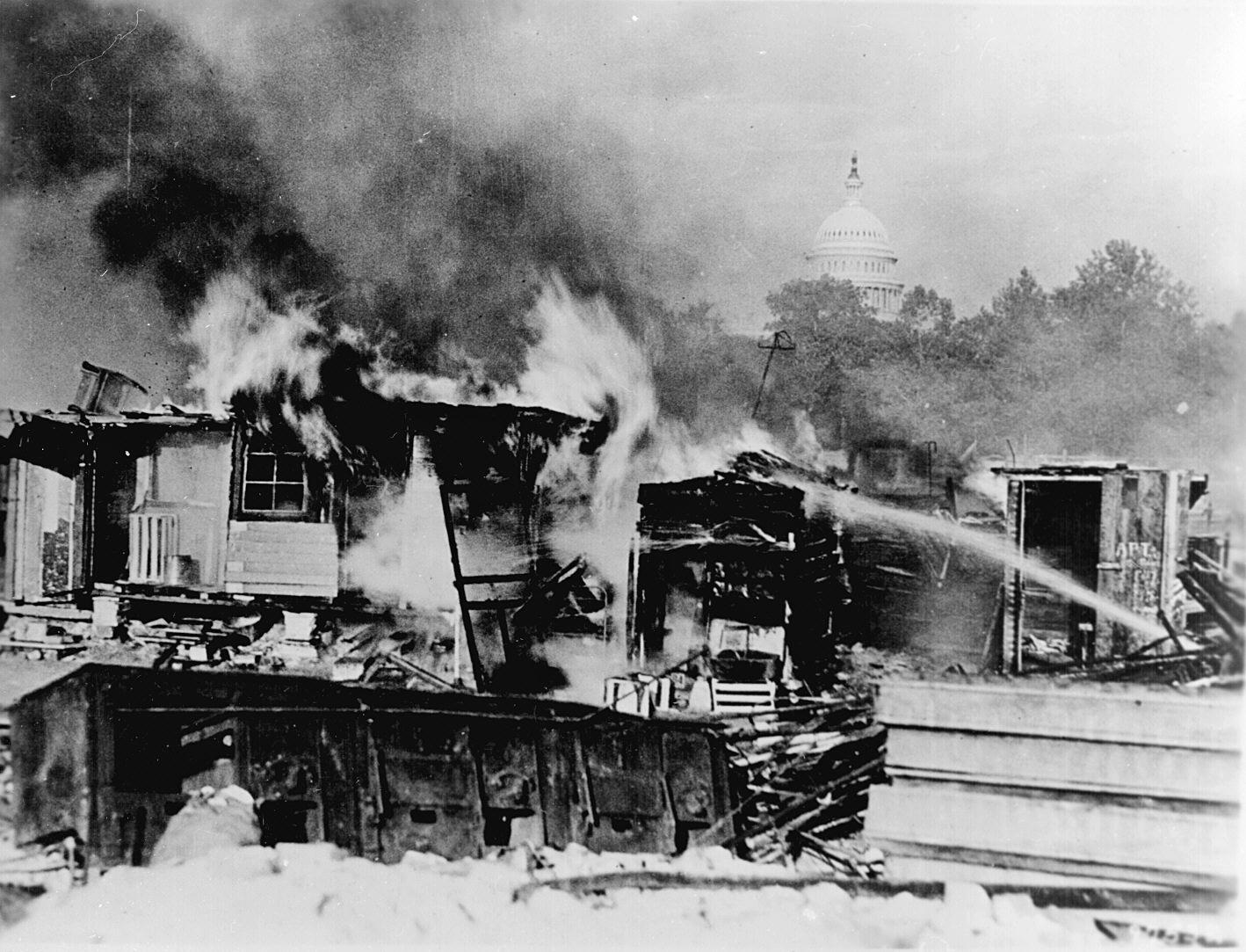 patton-burns-tent-city-in-washington-1932
